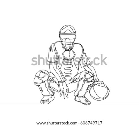 Continuous Line Drawing One Line Drawing Stock Vector Royalty Free