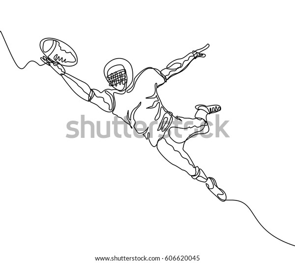 Continuous Line Drawing One Line Drawing Stock Vector