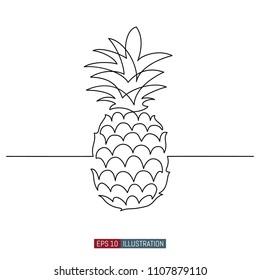 pineapple skull template your design works stock vector royalty