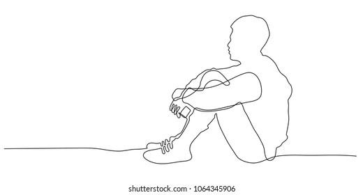 Hugging Knees Images Stock Photos Vectors Shutterstock