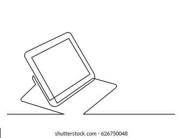 continuous line drawing of tablet