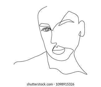 continuous line drawing of women vector illustration of beauty