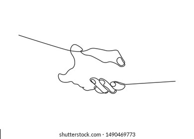 Continuous lines, hand, simple style, hand-drawn vector illustration
