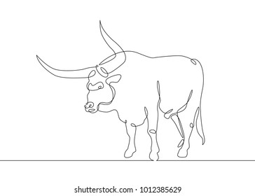 500 longhorn cattle pictures royalty free images stock photos Steer Roping continuous one line drawing bull cow