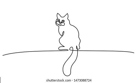 Cat Line Drawings Images, Stock Photos \u0026 Vectors