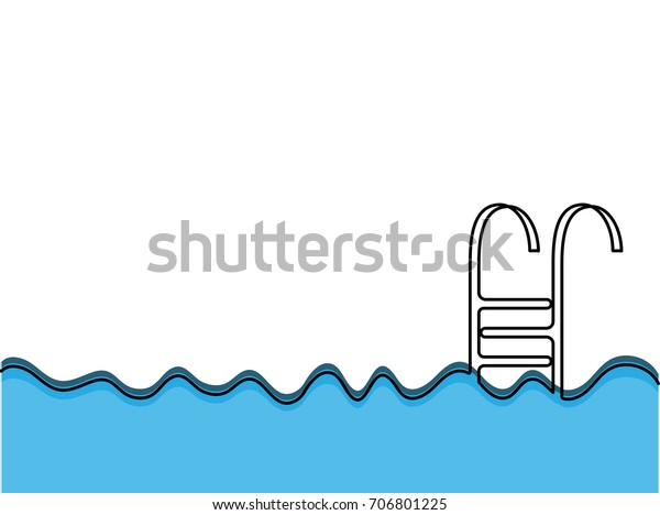 Continuous One Line Drawing Wave Swimming | Royalty-Free ...