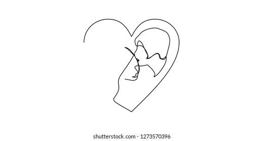 Royalty Free Stock Illustration Of Line Drawing Cartoon Broken Heart