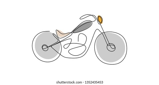 continuous one line drawong of chopper
