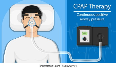Continuous positive airway pressure (CPAP) therapy treatment obstructive sleep apnea hose mask nosepiece treat