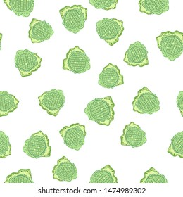 Continuous Seamless pattern with flowers green. Can be used for printing on packaging, bags, cups, laptop, box, etc. Pattern under the mask. Vector.