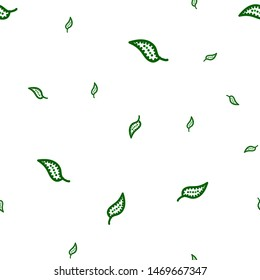 Continuous Seamless pattern green foliage with swirl. Can be used for printing on packaging, bags, cups, laptop, box, etc. Pattern under the mask. Vector.