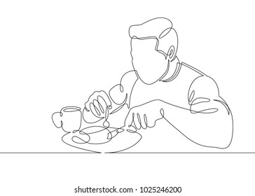 Healthy Food Line Drawing Images Stock Photos Vectors Shutterstock