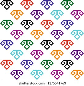 Continuous vector drawing with Anatolian rug pattern. Abstract background, banner, wallpaper, wrapping paper, background, fabric and textile pattern can be used.