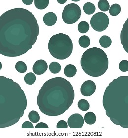 Continuous Wondrous Pattern With Green Polka Dots. Elements are not cropped. Pattern under the mask. Vector. Perfect design for textile, box, posters, cards, web etc.