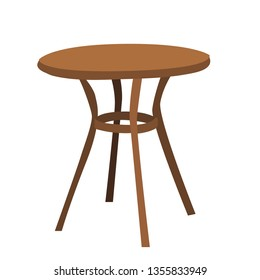 contour, brown table