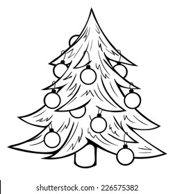Christmas Tree Outline Images Stock Photos Vectors Shutterstock