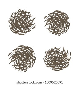 contour drawing of tumbleweed plants
