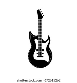 contour electric guitar musical instrument to play music