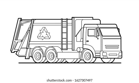 - Garbage Truck Coloring Images, Stock Photos & Vectors Shutterstock