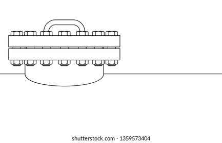 Contour illustration of tank with closed manhole