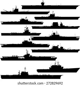Contour image of aircraft carriers. Illustration on white background.