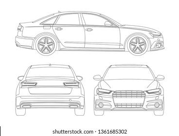 contour layout business sedan. Audi A6.