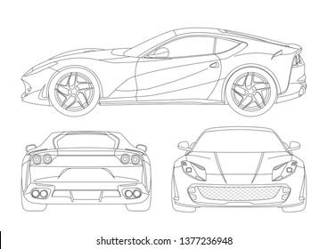 Ferrari Side View Images, Stock Photos \u0026 Vectors