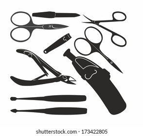 contour of manicure tools