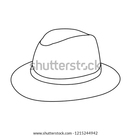 Contour Mans Hat Stock Vector (Royalty Free) 1215244942 - Shutterstock 4183a2f8726