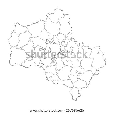Contour Map Moscow Region Stock Vector Royalty Free 257595625