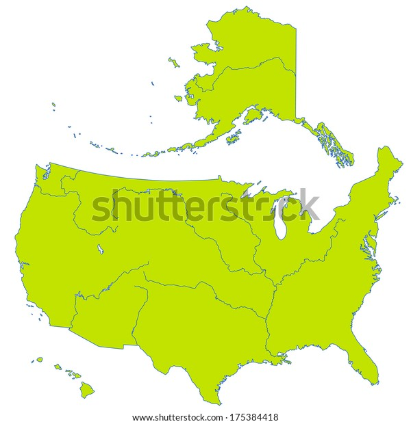Contour Map United States Major Rivers Stock Image ...