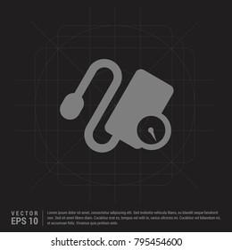 Contour medical mechanical tonometer icon Black Creative Background