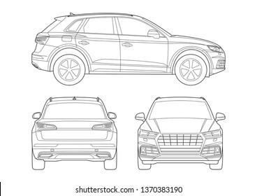 contour model of a compact SUV. Audi Q5.