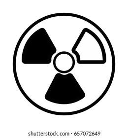 contour radiation symbol to dangerous and ecology contamination