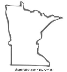 Contour with smoke effect - Minnesota