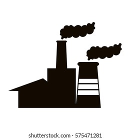 contour Smoke factory icon image, vector illustration design
