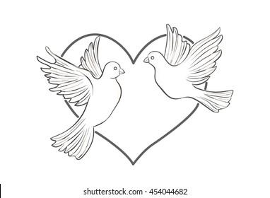 Wedding Doves Images Stock Photos Vectors Shutterstock