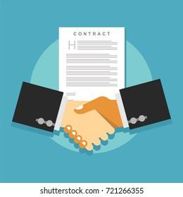 Contract agreement handshake. Business deal.