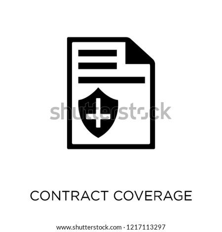 contract coverage icon contract coverage symbol stock vector