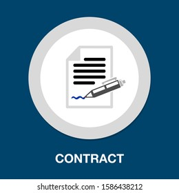 contract icon. flat illustration of contract vector icon. contract sign symbol - Shutterstock ID 1586438212