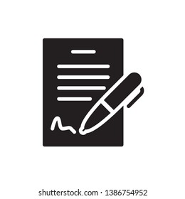 contract icon vector glyph style