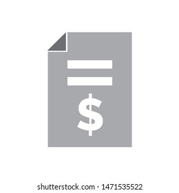 contract money icon. flat illustration of contract money - vector icon. contract money sign symbol