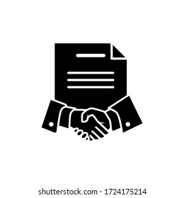 Contract signing icon vector logo