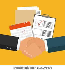 Contract terms and conditions icon. Business service concept. Vector illustration