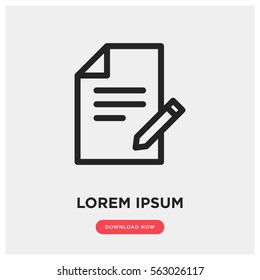 Contract vector icon, business agreement symbol. Modern, simple flat vector illustration for web site or mobile app