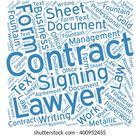 Contract ,Word cloud art  background