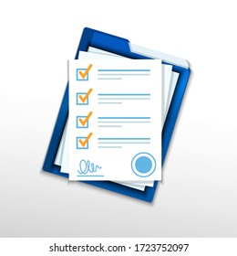 Contractual documents. A package of documents of contracts with signature and seal.