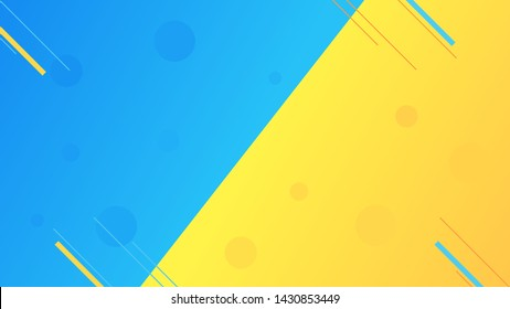 Contrast gradient Blue and yellow geometric lines background, abstract texture background for your design. Design by Inkscape.
