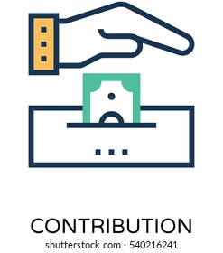 Contribution Vector Icon