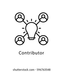 Contributor Vector Line Icon
